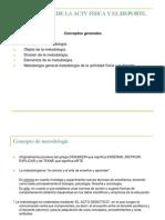 METODOLOGÍA DE LA ACTV FÍSICA Y EL DEPORTE