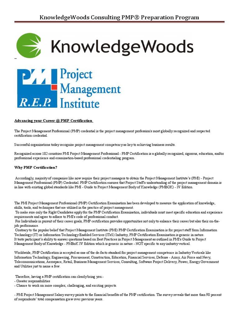 Pmp Certification Project Management Professional Business