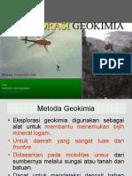 3. Eksplorasi Geokimia