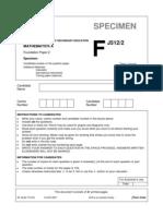 Gcse Maths a j512 Sep07 Sam Paper 02