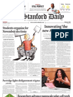 The Stanford Daily, Oct. 5, 2010