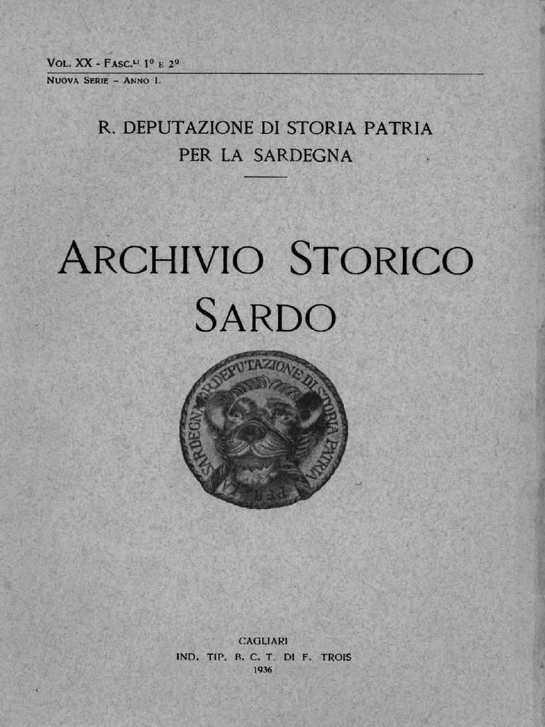 Archivio La Per Di Storia Patria Storico SardoRDeputazione Sardegna uFc3T5JKl1