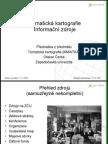 Tematická kartografie - Informační zdroje