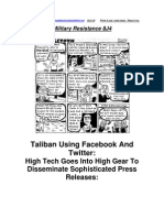 Military Resistance 8J4 Taliban Launch Twitter & Facebook Offensive