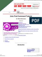 Unix Find Tutorial