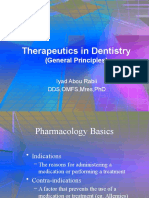 Therapeutics in Dentistry(General Principles)