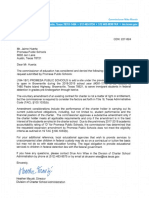 TEA Letter to Promesa Public Schools