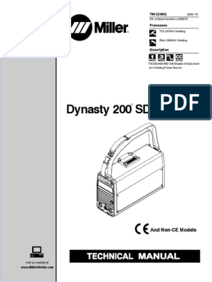 miller_dynasty_200sd_dx_technical-manual pdf | Welding