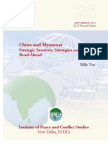 China and Myanmar Strategic Interests, Strategies and the Road Ahead
