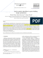 Applying Multi Objective Genetic Algorithms in Green Building Design Optimization 2005 Building and Environment