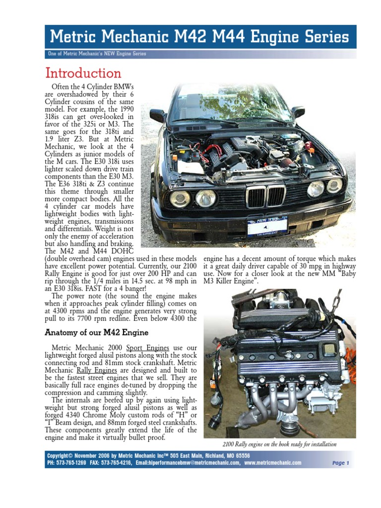 Bmw M44 Performance Camshafts
