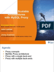 Designing Scalable Architectures with MySQL Proxy