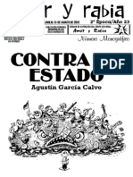 """Revista Amor y Rabia Nr. 74, """"Contra el estado"""""""