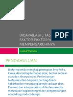 Bioavailabilitas Obat