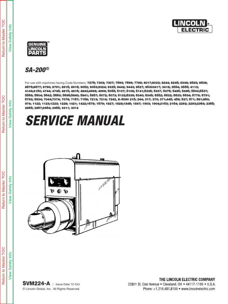all_sa200_arc welding generator service manuals | Welding ... on