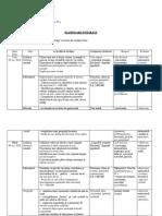 Model Planificare Integrată Clasa a IV-a