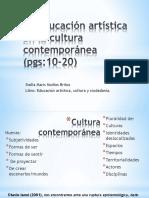 La educación artística en la cultura contemporánea (.pptx