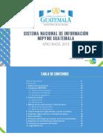 Sistema Nacional de Informacion Mipyme Guatemala Ano Base 2015