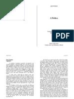 Aristoteles - A Politica - Tradução Nestor Silveira - Livro Terceiro Cap 1