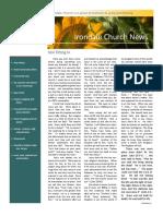 Irondale Church News