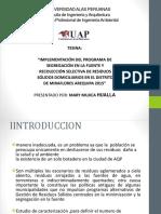 tesis (IMPLEMENTACIÓN DEL PROGRAMA DE SEGREGACIÓN EN LA FUENTE Y RECOLECCIÓN SELECTIVA DE RESIDUOS SÓLIDOS DOMICILIARIOS).pptx