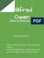 wildred owen dulce et decorum est group work activity