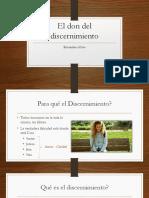 Preseminario - El Don Del Discernimiento