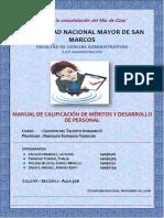 Manual de calificación de méritos y desarrollo de personal