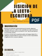 Adquisición de La Lecto-escritura