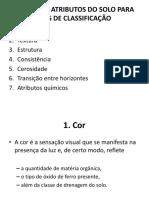 Aula 7 - Principais Atributos Do Solo Para Fins de Classificação