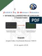 1er Informe Del Laboratorio de Lenguajes y Traductores