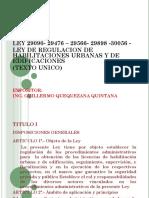 LEY DE REGULARIZACION DE HABILITACION URBANA