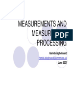 Measurements and Measurement Processing