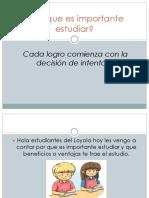 La importancia del estudio Juan Jose Serna Valencia