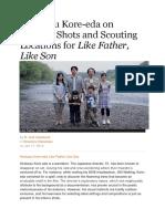 Shooting 'Like Father Like Son'