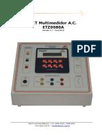 ANZO - KIT Multimedidor a.C ETZ0080A (Versão 1.1)