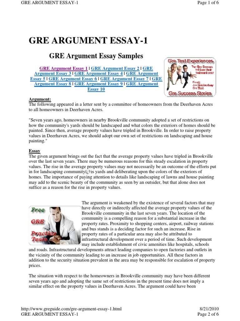 gre essay template