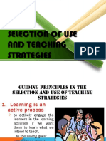 SELECTION OF USE AND TEACHING STRATEGIES.pptx