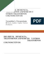 Delirium Demencia Trastornos Amnésicos y Cognoscitivos