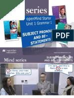 OpenMind Starter Unit 1 Grammar 1