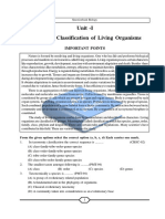 Classification of living organism