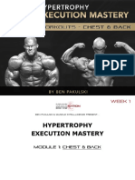 Hypertrophy Execution Mastery - Module 1 Workouts - Chest & Back - Week 1