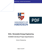 EG5909 Renewable Energy Individual Project Specifications 2016-17