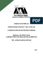 Manual de practicas de laboratorio de análisis de alimentos UAM
