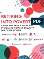 Retiring Into Poverty National Plan for Change Increasing Housing Security for Older Women