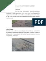 Tipos de Fallas en Los Pavimentos