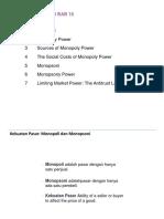 Bab 10 Kekuatan Pasar (Monopoli Dan Monopsoni)