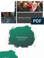 Exam 1 Review Questions - Presentation