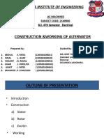 Construction & Working of Alternator