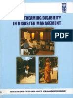 Mainstreaming Disability in Disaster Managementa Toolkit UNDP Govt of India SMRC Hans